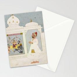Thakur Ajit Singh Worships the Goddess Stationery Cards