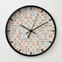 Mosaic pattern in pastel colors Wall Clock