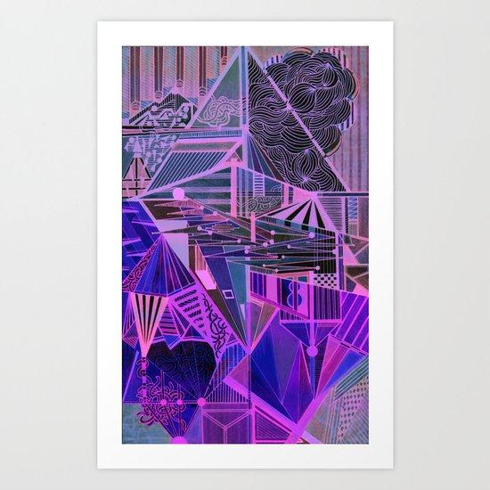 Geometric Inverse Art Print
