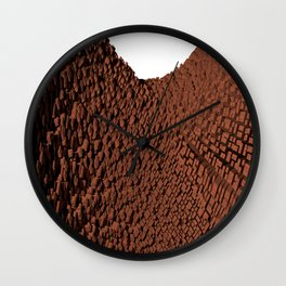 Curved surface brown Wall Clock
