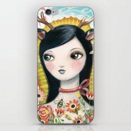 Dear Girl Saint by CJ Metzger iPhone Skin