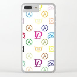 Dirty Laundry XL - in a Louis-V-Style - Living Hell Clear iPhone Case