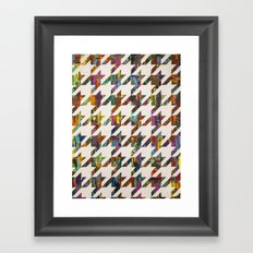 Which Came First, Galaga or Houndstooth? Framed Art Print