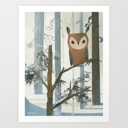 Day Owl Art Print