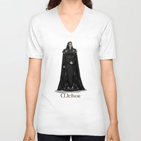 valar morghulis V-neck T-shirts featuring Melkor by wolfanita