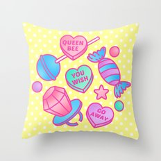 Candy Candy Throw Pillow