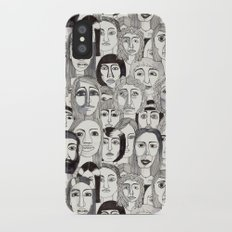 Faces in the Tube iPhone X Slim Case