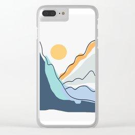 Minimalistic Landscape II Clear iPhone Case