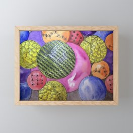 Zentangle Bubbles Framed Mini Art Print