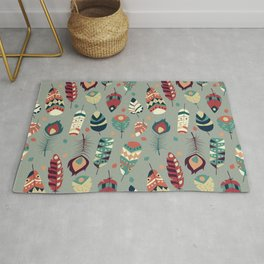 Tribal feather pattern 008 Rug