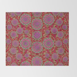 Hearts can also be flowers such as bleeding hearts pop art Throw Blanket