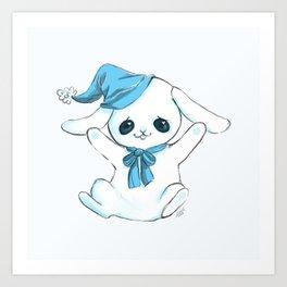 Cuddle Bunny Art Print