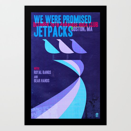 "Custom ""We Were Promised Jetpacks"" Concert poster  Art Print"