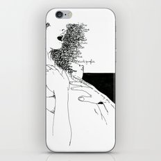 Curly Poems iPhone Skin
