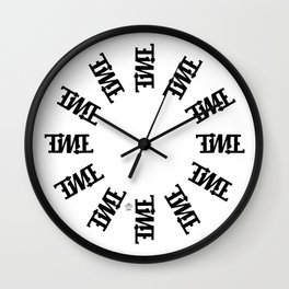 """TIME"" Rotating Wall Clock"