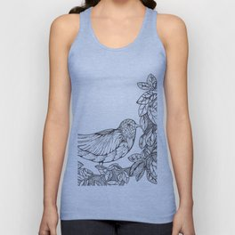 Tree Bird Unisex Tank Top
