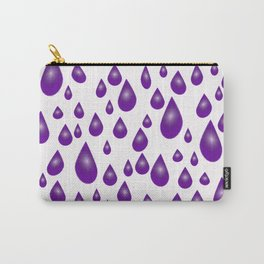 Purple Raindrops Carry-All Pouch