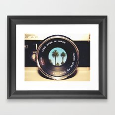 focus on palms Framed Art Print