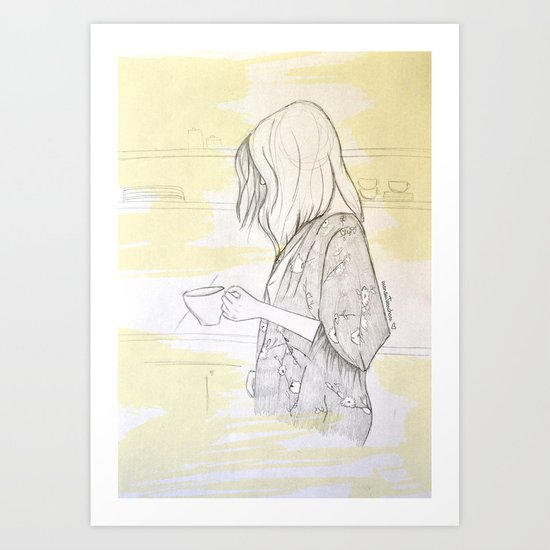 """""""She's like cold coffe in  the morning"""" Art Print"""