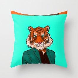 Tiger Beat Throw Pillow