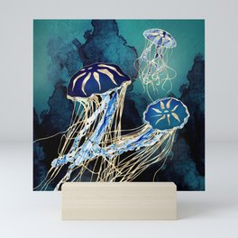 Metallic Jellyfish III Mini Art Print