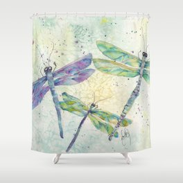 Xenas Dragonfly Shower Curtain