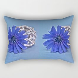 Still life with chicory flower Rectangular Pillow