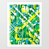 brazil Art Prints featuring Brazil by Roberlan Borges
