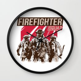Firefighter Squad Wall Clock