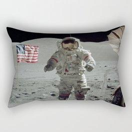Apollo 17 - Last Man On The Moon Rectangular Pillow