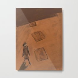 She walks alone Metal Print