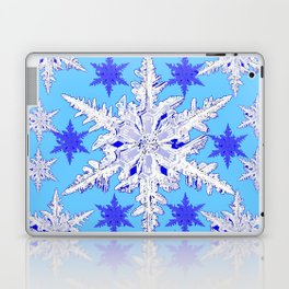 BABY BLUE SNOW CRYSTALS BLUE WINTER ART DESIGN Laptop & iPad Skin