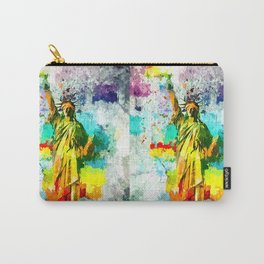 Statue of Liberty Grunge Carry-All Pouch