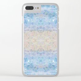 BOHEMIAN ICE STONE BLUE Clear iPhone Case