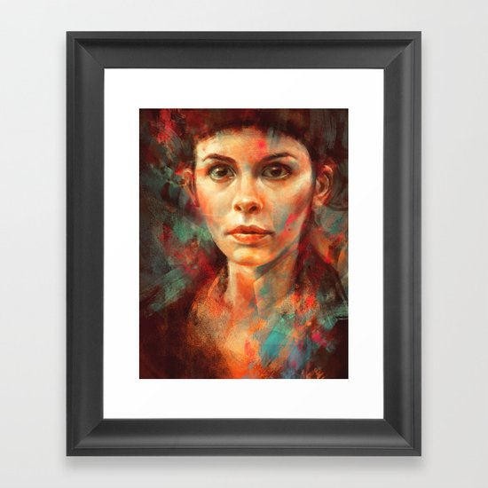 She was always a lonely child. Framed Art Print