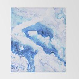 Ocean Marble Throw Blanket