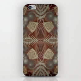Whirling spirals in earthy early painting style iPhone Skin