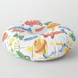 Kids Air Transportation Floor Pillow