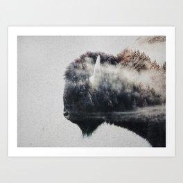 Wild West Bison Art Print
