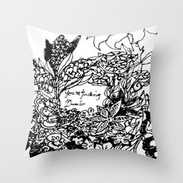 Sassy Flowers Throw Pillow