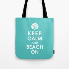 Keep Calm and Beach On Tote Bag