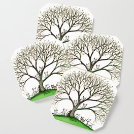 Bull Terriers Whimsical Dogs in Tree Coaster