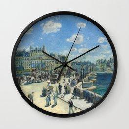 Pont Neuf Paris Painting by Auguste Renoir Wall Clock