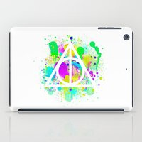 deathly hallows iPad Cases featuring The Deathly Hallows by Christina