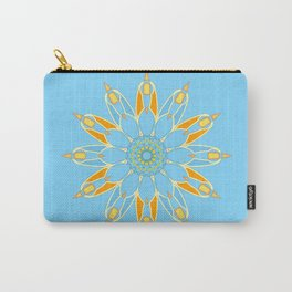 Abstract star on cyan background square Carry-All Pouch