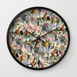 Julia's Chickens Wall Clock
