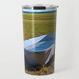 Outdoor pool | conceptual photography Travel Mug