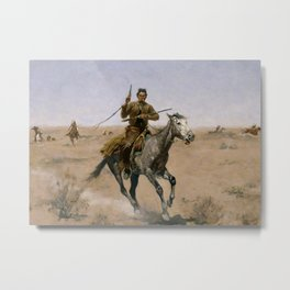 "Frederic Remington Western Art ""The Flight"" Metal Print"
