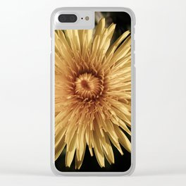 DESATURATED YELLOW DANDELION FLOWER Clear iPhone Case