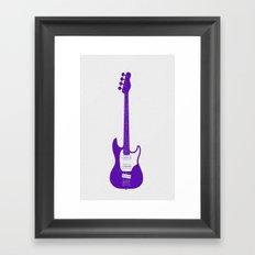 Minimalistic Bass Guitar Framed Art Print